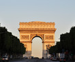 The Arc de Triomphe at sunrise