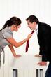 Streit unter Mitarbeitern am Arbeitsplatz im Büro