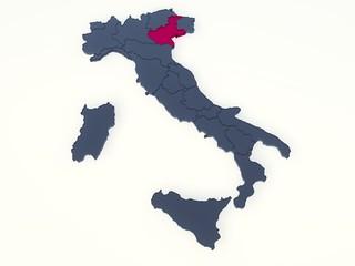 ITALIA REGIONI 3D VETRO - VENETO