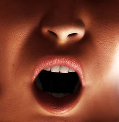 Close Up Of Shouting Mouth