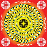 Mystic Rotating Rings  (motion illusion) poster