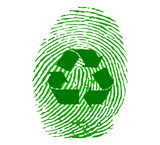 Green recycle fingerprint vector