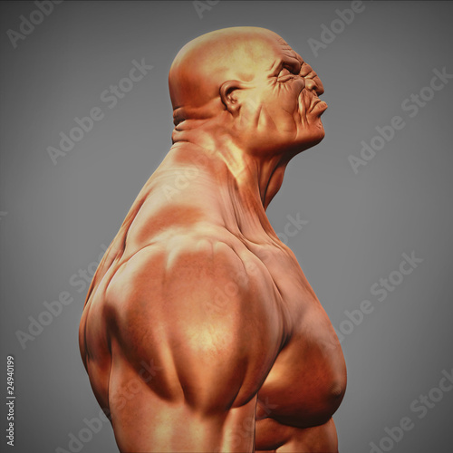 angry man's bust