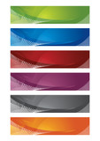 Fototapety Selection of halftone digital banners
