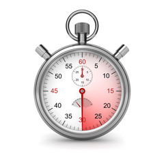 Stopwatch. Clipping path included.