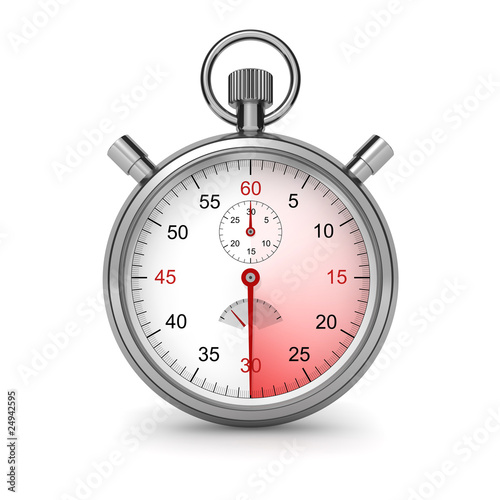 Stopwatch. Clipping path included. - 24942595