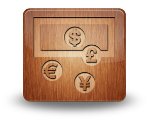 "Wooden Icon ""Currency Exchange"""