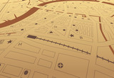 Brown streetmap