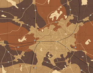 Brown map