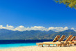 Summertime at the beach. Travangan gili.