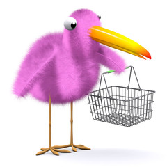 3d Birdy goes shopping