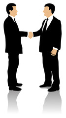 Two well dressed business men shaking hands