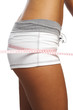 perfect womans bum  measure  by metre-stick