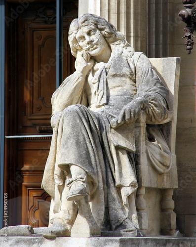 Papiers peints Statue Statue homme assis