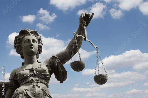 Leinwanddruck Bild justice
