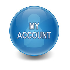 "Esfera brillante con texto ""MY ACCOUNT"""