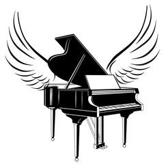 Konzertflügel mit Flügel