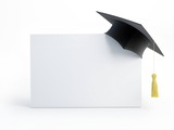 Fototapety graduation cap blank