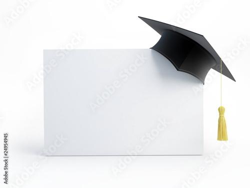 graduation cap blank - 24954945