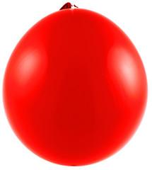 ballon rouge, fond blanc