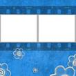 fondo azul marco para fotos pelicula de negativos