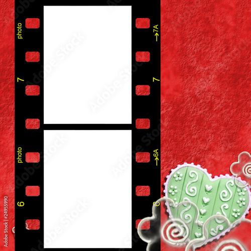 fondo marco para fotos rojo corazon y flores