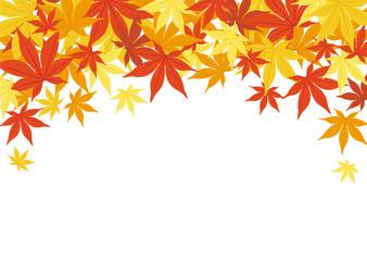秋の背景素材-紅葉-