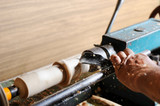Making wood elements on the lathe poster
