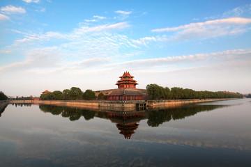 The Forbidden City at dusk