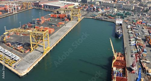 Leinwanddruck Bild aerial harbor