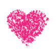 Pink Heart Ink Splatter