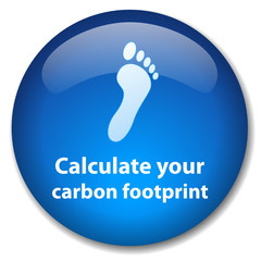 """CALCULATE YOUR CARBON FOOTPRINT"" Web Button (recycle go green)"