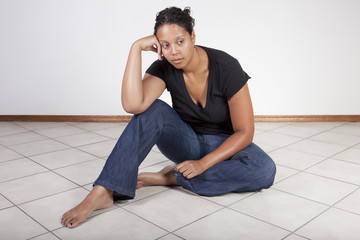 Frustrated black woman