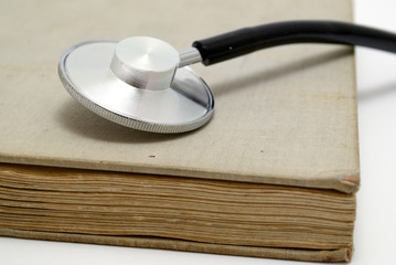 stethoscope over book