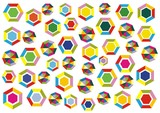 polygons decoration poster