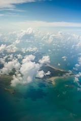beautiful belitung island indonesia aerial shot