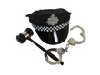 Handcuffs Gavel and Police Hat
