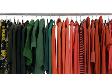 Colorful Fashion clothing rack display