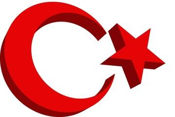 Wappen Türkei 3D