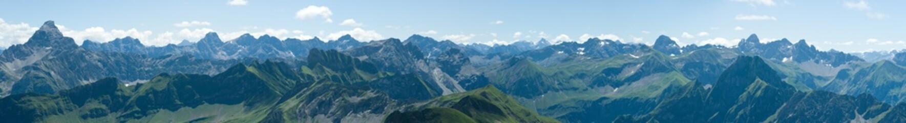 Berge - Alpen - Allgäu - Blick vom Nebelhorn