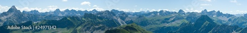 Berge - Alpen - Allgäu - Blick vom Nebelhorn © Christoph Hähnel