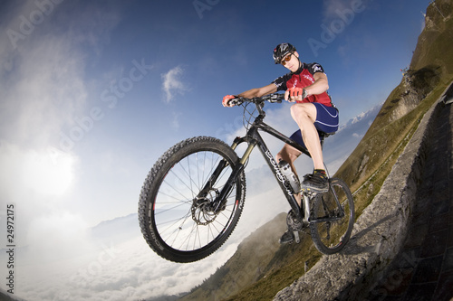 Mountainbike Wheely fisheye