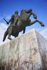 Alexander the Great, statue in Thessaloniki, Greece