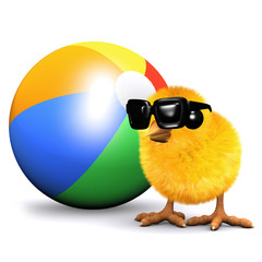 3d Chick at the beach