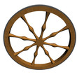 Ancient craftsmanship wooden wheel