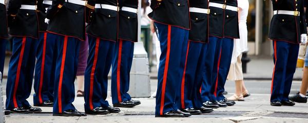 Militärgarde auf dem Times Square in New York