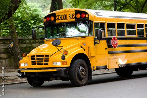 Schulbus auf den Straßen von New York City - 24981998