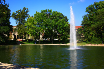Mirror Lake at the Ohio State University