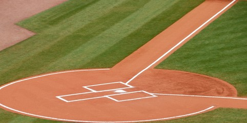 Home Plate At major league baseball stadium