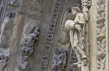 Detail of the cathedral, Rheims, France